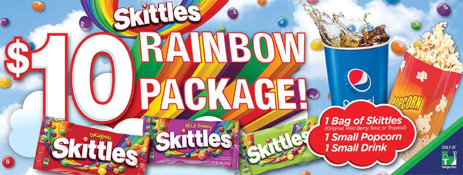 Skittles promo package